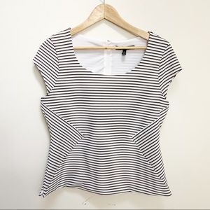 White House Black Market striped blouses 8